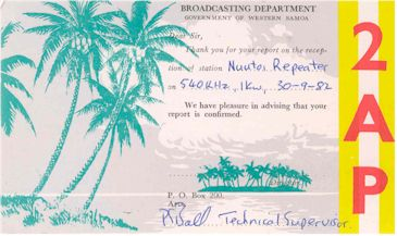 image of 2AP Nuutoi QSL