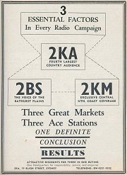 2BS features in this Tri-Station Ad in the 1939 Broadcasting Business Yearbook