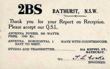 image of Listener confirmation card signed by Chief Engineer T L Croke