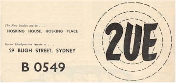 link to image of 2UE ad 1952