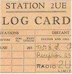 link to 1933 2UE confirmation card