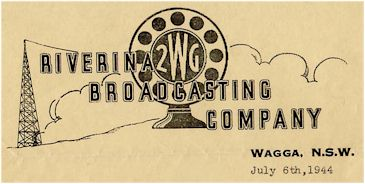 image of QSL card from 2WG 1944