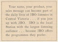 image of ad for Radio Station 3BO Bendigo