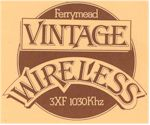 image of 3XF Vintage Wireless, 1030AM. Ferrymead QSL