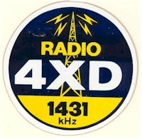image of NZ Radio, 4XD car sticker
