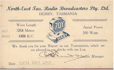 image of 7DY Derby QSL