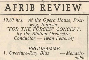 image of a copy of the music programme