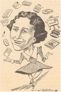 image of Aunt Daisy cartoon 1937