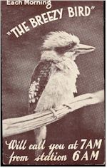 image of Breezy Bird 6AM QSL 1934
