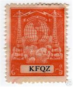 Radio Verification stamp for KFQZ Hollywood
