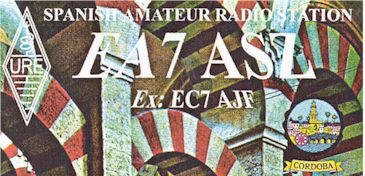 image of EA7ASZ Cordoba, Spain QSL card