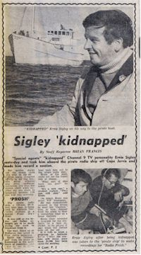 image of Ernie Sigley newspaper story
