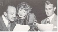image of AFRS Radio Station Personalities Mel Blanc, Lucille Ball, Alan Ladd