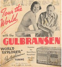 image of Gulbransen home radio ad 1938