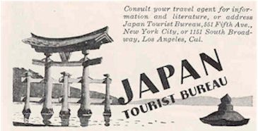 image of Japan Travel Bureau advert 1936