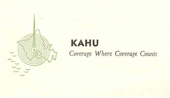 image of Hawaii Radio Station KAHU letterhead detail