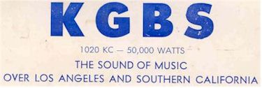 image of KGBS 1960 QSL