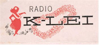 image of Hawaii Radio Station KLEI letterhead