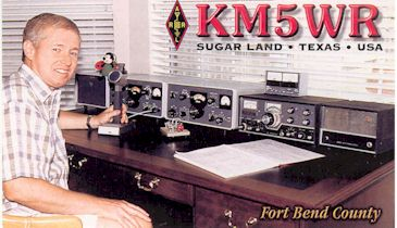 image of KM5WR Sugar Land, Texas USA QSL card