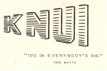 image of Hawaii Radio Station KNUI letterhead