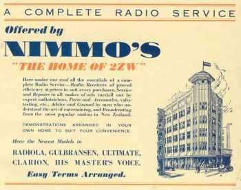 image of Nimmos Building on Willis Street, home of 2ZW