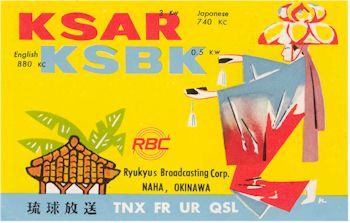 image of Radio Stations KSBK and KSAR QSL