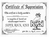 image of KYOI Certificate