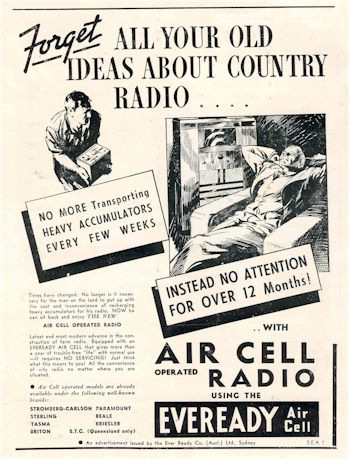 radio history image for Eveready Air Cell 1937