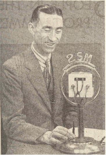 radio history image Harry Millard smiles for the camera, 2SM Sydney