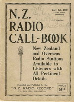 image of NZ Radio Call Book 1932