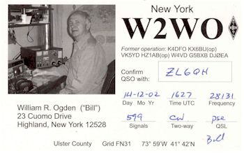 image of William R. Ogden [Bill] W2WO, Highland NY, USA