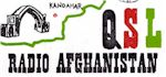 image of QSL card from Radio Afganistan featuring destroyed statues
