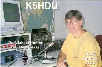 image of Dr Michael Hunter K5HDU, Houston TX, USA