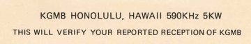 Confirmation message from KGMB Honolulu