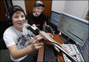 Jake Townsend and Hayden Gies at Bolt FM