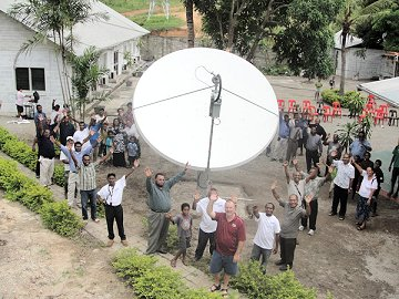 New satellite uplink