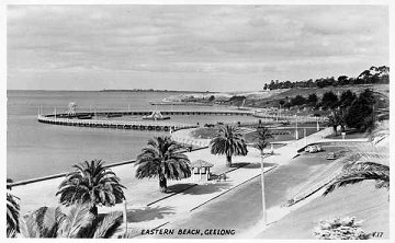 Eastern Beach, Geelong, 1950