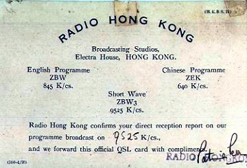 Radio Hong Kong card