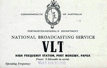 VLT Port Moresby card
