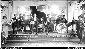 Will James Band, Wentworth Hotel, Sydney 1920