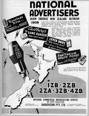 2ZB 1939 National Advertisers