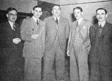 Some of the 2ZB announcers in 1947