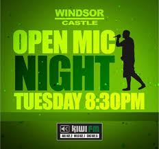 Kiwi FM Open Mic Night promotional poster