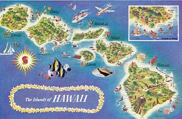 1961 Hawaii map