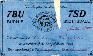 Sunpolishers membership card