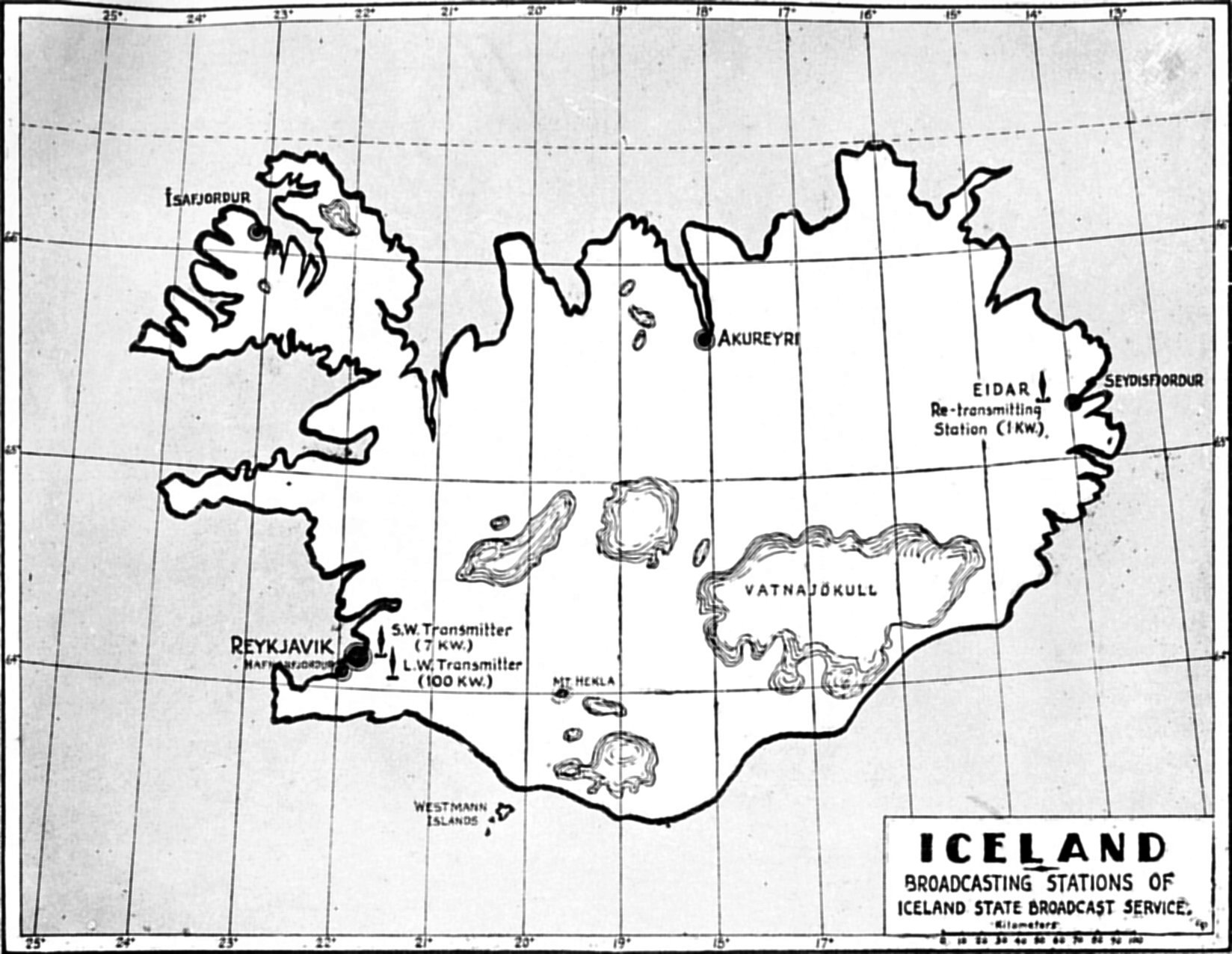 Iceland State Broadcast Service 25 Metres Range Short Wave Am Transmitter