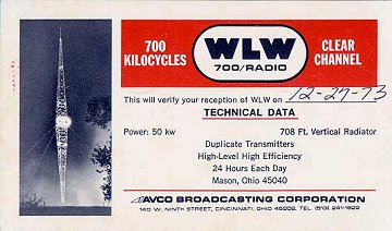 WLW QSL
