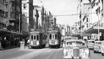 Trams in Queen St