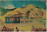 image of watercolor painting of the WVTB studio 1944 by John Dietrich.