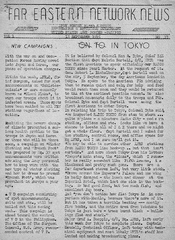 Far Eastern Network News 1945